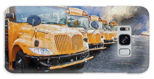 School Bus Lot Painterly Galaxy Case