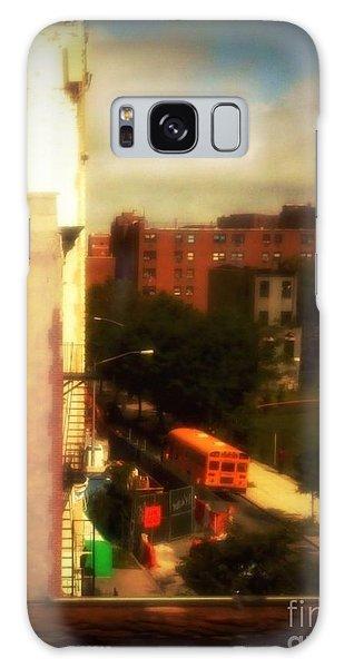 School Bus - New York City Street Scene Galaxy Case by Miriam Danar