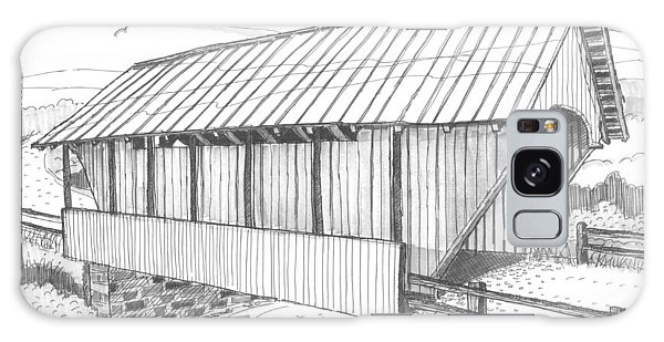 School House Covered Bridge Galaxy Case