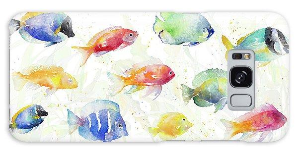 Sea Galaxy Case - School Of Tropical Fish by Lanie Loreth