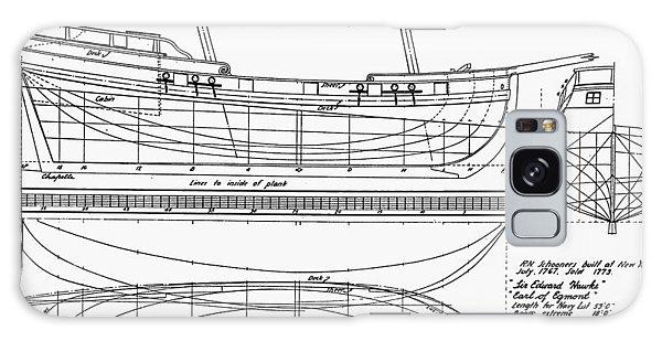 Royal Colony Galaxy Case - Schooner Plans, 1767 by Granger