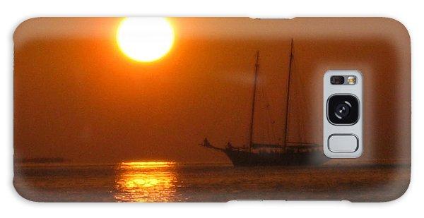 Schooner Sunset Galaxy Case