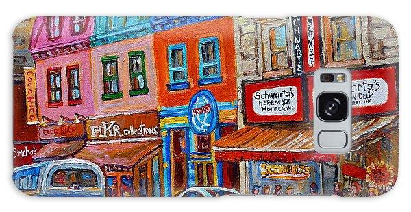 Schwartzs Deli Restaurant Montreal Smoked Meat Plateau Mont Royal Streetscene Carole Spandau Galaxy Case