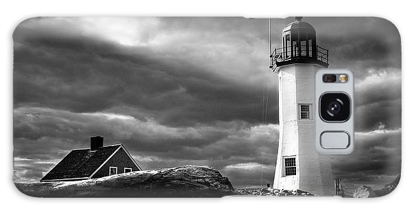 Scituate Lighthouse Under A Stormy Sky Galaxy Case by Jeff Folger