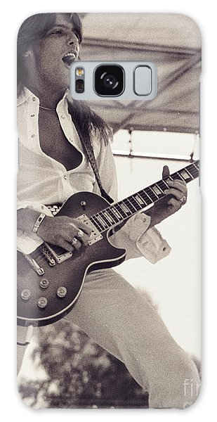 Scott Gorham Of Thin Lizzy Black Rose Tour At Day On The Green 4th Of July 1979  Galaxy Case