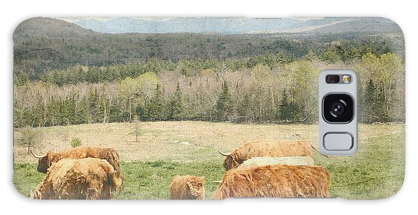 Scottish Highland Grazing  Galaxy Case by Betty  Pauwels