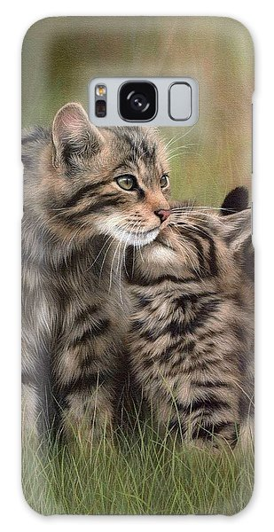 Scottish Wildcats Painting - In Support Of The Scottish Wildcat Haven Project Galaxy Case
