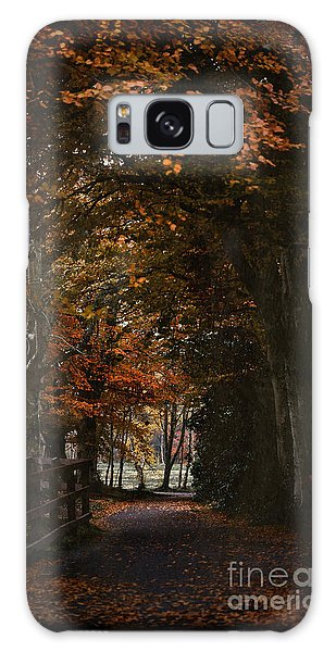 Scottish Woodland Walk Galaxy Case by Liz  Alderdice