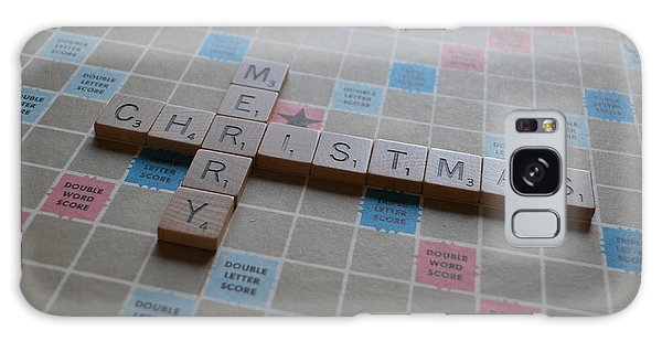 Scrabble Merry Christmas Galaxy Case