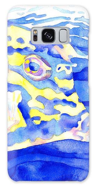 Scrawled Cowfish Portrait Galaxy Case