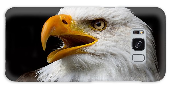 Screaming Bald Eagle Galaxy Case