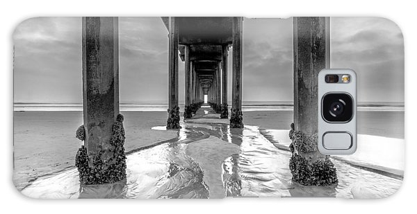 Scripps Pier Black And White Galaxy Case