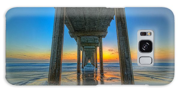 Scripps Pier Sunset Galaxy Case