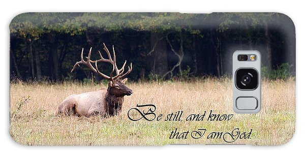 Scripture Photo With Elk Sitting Galaxy Case