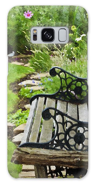 Scroll Bench Garden Scene Digital Artwork Galaxy Case
