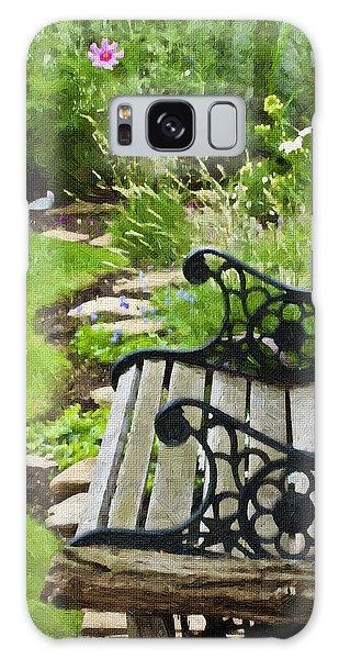 Scroll Bench Garden Scene Digital Artwork Galaxy Case