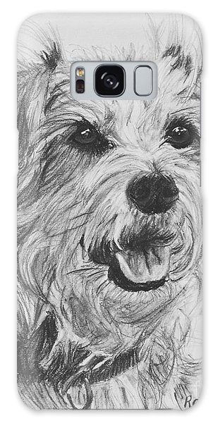Scruffy Terrier Dog Drawing Galaxy Case