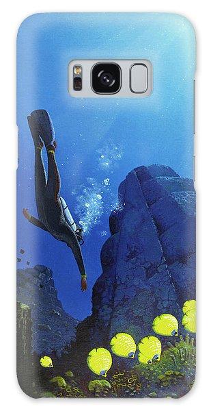 Scuba Diving Galaxy Case - Scuba Diving by Mark Garlick/science Photo Library