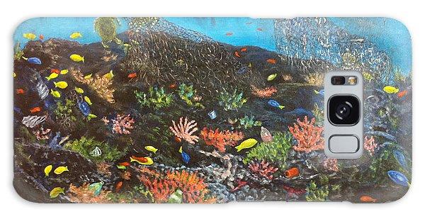 Galaxy Case featuring the painting Sea Assault by Karen Zuk Rosenblatt
