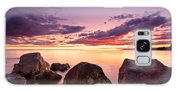 Sea At Sunset The Sky Is In Beautiful Dramatic Color Galaxy Case
