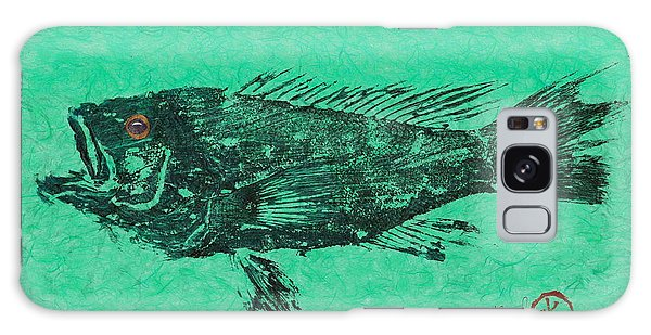 Sea Bass On Aegean Green Thai Unryu Paper Galaxy Case