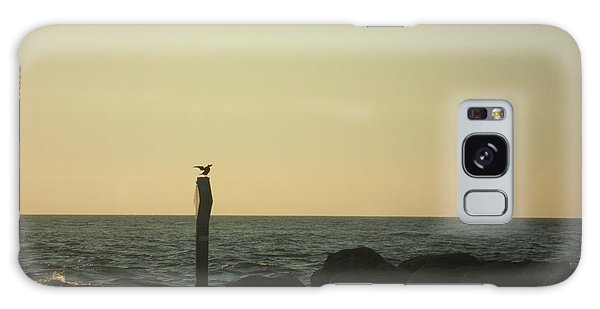 Sea Bird Landing Galaxy Case