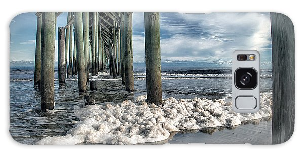 Sea Foam And Pier Galaxy Case by Phil Mancuso