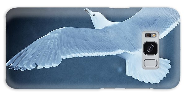 Sea Gull Over Icy Water Galaxy Case