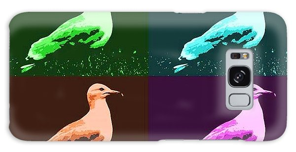 Galaxy Case featuring the photograph Sea Gulls 4  by Al Fritz