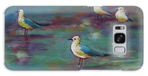 Sea Gulls Beach Bums Galaxy Case