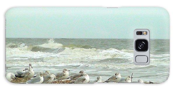 Sea Gulls In Windy Surf Galaxy Case by Cindy Croal
