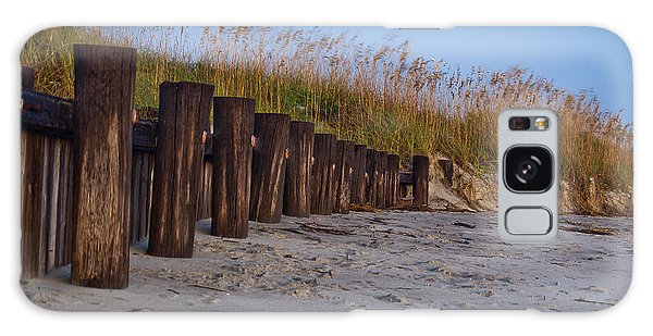 Sea Oats And Pilings Galaxy Case