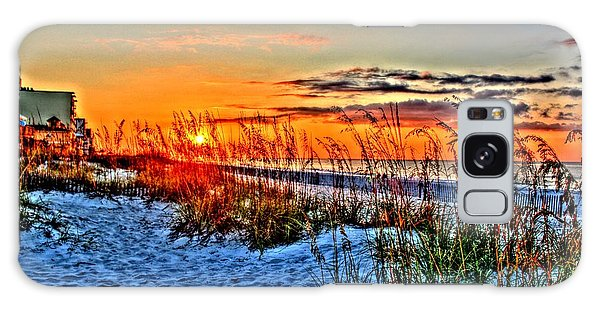 Sea Oats At Sunrise Galaxy Case