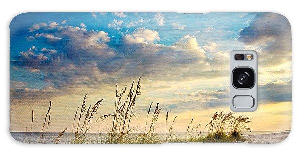Beaches Galaxy Case - Sea Oats Sunset by Joan McCool