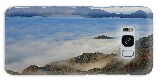 Sea Of Clouds In The Courthouse Valley-blue Ridge Parkway Galaxy Case
