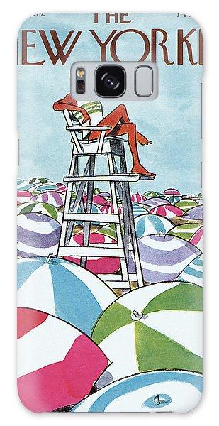 Sea Of Umbrellas Galaxy Case