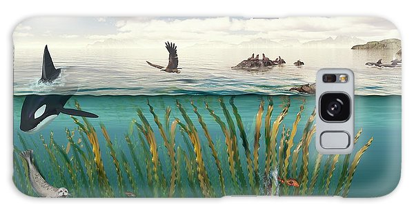 Otter Galaxy Case - Sea Otters And Kelp Ecosystem by Nicolle R. Fuller/science Photo Library