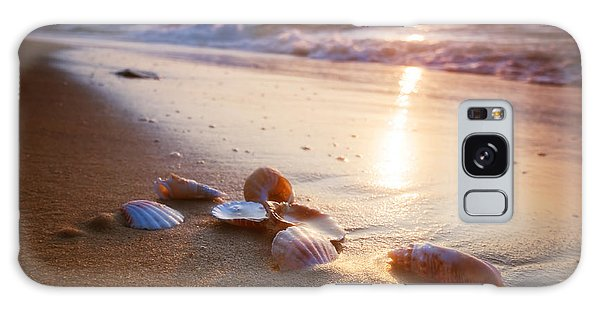 Sea Shells On Sand Galaxy Case