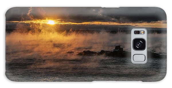 Sea Smoke Sunrise Galaxy Case by Marty Saccone