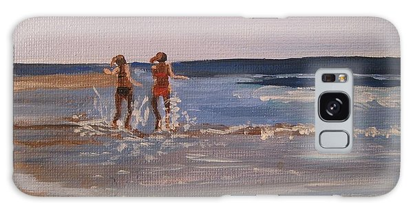 Sea Splashing On The Beach Galaxy Case