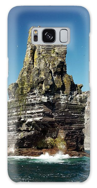Sea Stacks Galaxy Case - Sea Stack At The Cliffs Of Moher by Sinclair Stammers