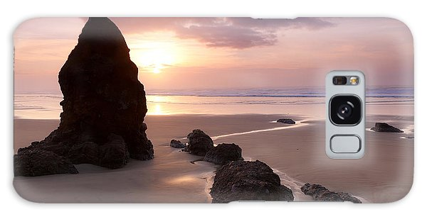 Sea Stack Sunset Galaxy Case