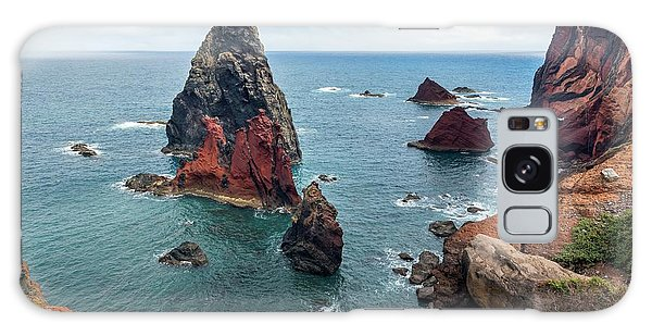 Sea Stacks Galaxy Case - Sea Stacks At Ponta De Sao Lourenco by Dr Juerg Alean