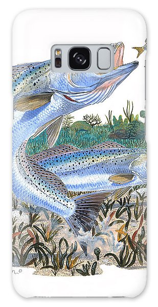 Mangrove Snapper Galaxy Case - Sea Trout by Carey Chen