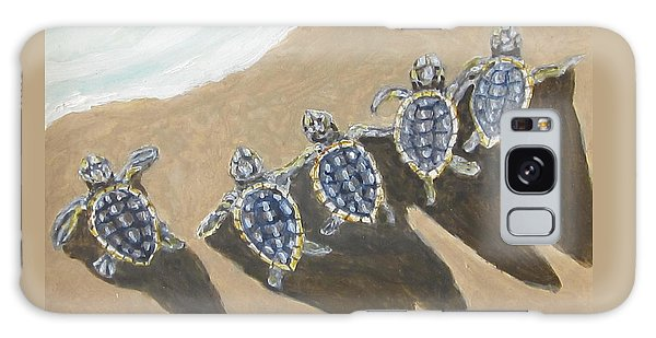 Sea Turtle Babes Galaxy Case by Anne Marie Brown