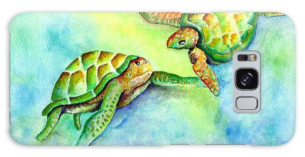 Sea Turtle Courtship Galaxy Case
