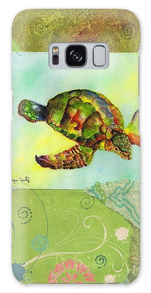 Sea Turtle Flight Mixed Media Galaxy Case