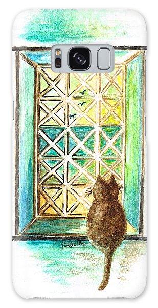 Curiosity - Cat Galaxy Case by Teresa White
