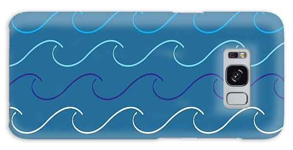Hair Galaxy Case - Sea Waves Pattern by Charles Whitefield