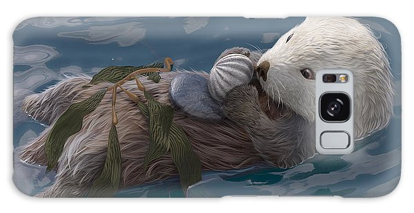 Otter Galaxy S8 Case - Seafood For Lunch by Gary Hanna